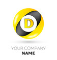 letter d logo symbol in the colorful circle vector image vector image