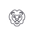 lion roar line icon sign on vector image
