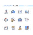 mass media - modern line design style icons set vector image
