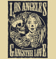 Monochrome chicano tattoo style vintage poster