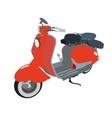 Motor scooter doodle vector image