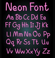 neon font design for english alphabets vector image