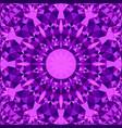 purple repeating kaleidoscope pattern background vector image vector image