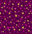 purple seamless background with golden and pink vector image vector image