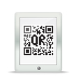 QR code in a maderd gadget vector image vector image