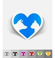 realistic design element friendship cat and dog vector image