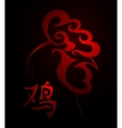 Red Rooster as symbol for 2017 by Chinese zodiac vector image vector image