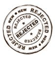 rejected ink stamp vector image
