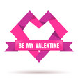 romantic design for valentine day vector image vector image