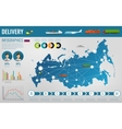 Russian Federation transportation and logistics vector image vector image