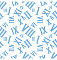 seamless background pattern with roman numerals on vector image