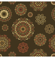 seamless pattern with round floral ornaments vector image vector image