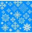 Seamless pattern with snowflake vector image vector image