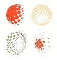 set colorful logos halftone circles logo vector image vector image