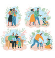 set happy family vector image vector image