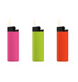 set of multi-colored lighters vector image vector image
