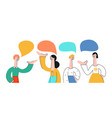 set of talking people with vector image vector image