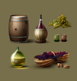 set of winemaking vector image vector image