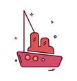 ship icon design vector image vector image