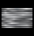 silver gradient set shiny elegant silver vector image vector image