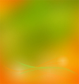 Smooth mesh wave orange and green vector image