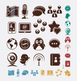 social set of icons vector image vector image