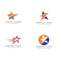 star logo and symbols template icon design vector image