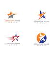 star logo and symbols template icon design vector image vector image