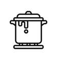 stew icon vector image vector image