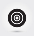 target goal glyph icon for any purposes perfect vector image