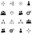 teamwork icon set vector image vector image