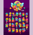 toys cube colorful font vector image