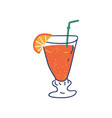 tropical cocktail summer time symbol vector image vector image
