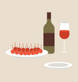 types aperitifes local vector image vector image
