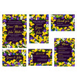 wedding floral banner for invitation template vector image vector image