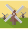 windmills icon set of great flat icons design vector image