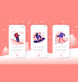 winter sport and recreation lifestyle mobile app vector image vector image
