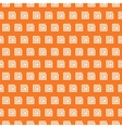 Greek seamless pattern Orange and white colors vector image