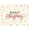 Merry christmas typography against background with vector image