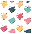Valentines day background with colorful hearts vector image