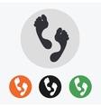 Hand drawn footprints icons set vector image