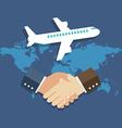 Business meeting international partnership concept vector image