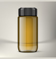 3d pharmaceutical bottle with clear medical oil vector image vector image
