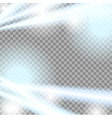 Abstract blue beams transparent background vector image vector image