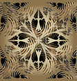 abstract ornamental 3d paisley seamless pattern vector image vector image