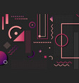 abstract trendy pink and purple geometric shape vector image vector image