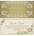 Baroque invitation gold and beige vector image vector image