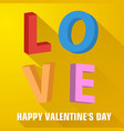 big love letters composition vector image