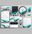 big set of business stationery items vector image vector image