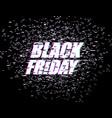 black friday glitch effect emblem website display vector image vector image
